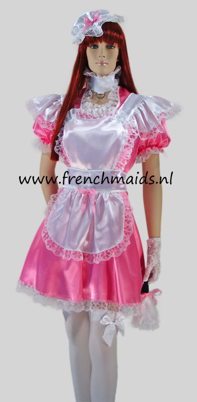 Pink Dream Sexy French Maid Costume-7757